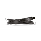 Neck strap vintage leather, black
