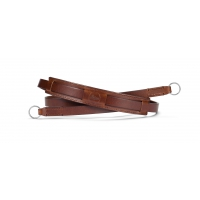 Neck strap vintage leather, brown