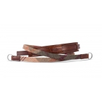 Neck strap lifestyle leather / fabric, check
